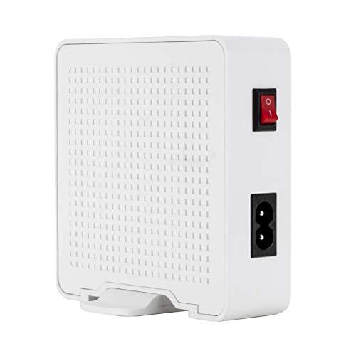 Mobestech 6-Port-C-USB-Ladegerät mit 10A Desktop-Ladegerät, Desktop-Hub (weiß)