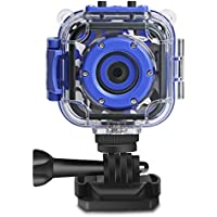 DROGRACE Kids Camera 1080P Digital Photo/Video Cameras Underwater Action Cam Waterproof 98feet for Children with 1.77 LCD and Digital Zoom