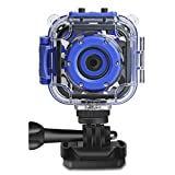 DROGRACE Kids Camera Waterproof HD Action Cam Digital Camera 1080P Underwater Sports Camera