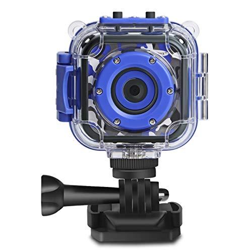 DROGRACE Kinder Kamera wasserdicht Unterwasser 1080P HD Camcorder Digital Video Action Cam für Jungen Mädchen Kleinkind Geburtstag Urlaub Spielzeug 1,77 LCD