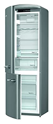 Gorenje Ork 193 x Fridge-Freezer Energy Efficiency Class A + + +/Height 194 cm/Fridge Capacity 227 Litre/Capacity 95 Litres Silver Frost Less/Crisp Zone/Vintage/Retro Collection