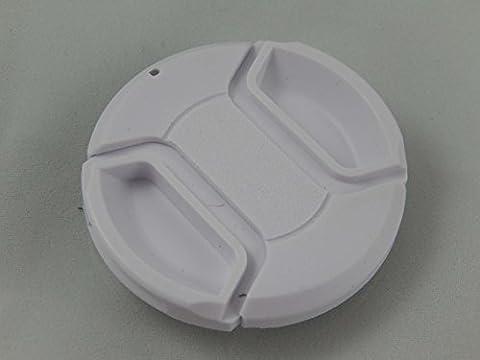 Protège-objectif blanc vhbw 72mm avec griffe intérieure pour appareil photo Pentax HD DA 16-85 mm F3, 5-5, 6 ED DC WR