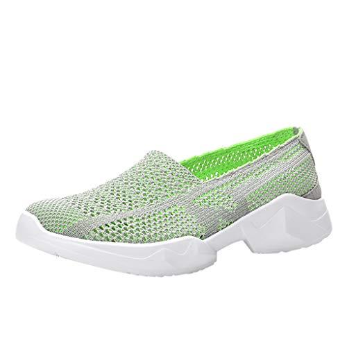 LILIGOD Freizeitschuhe für Paare Herren Damen Atmungsaktive Weicher Boden Mesh-Schuhe Leichte Hohle Outdoor Walking Schuhe rutschfest Bequem Turnschuhe Slip-On Fitnessschuhe