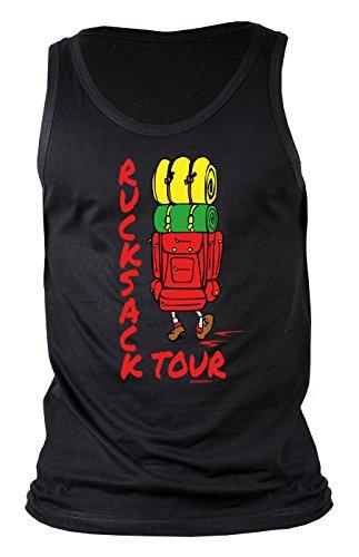 Herren Tank Top für Bergsteiger - Ruchsack Tour - Wandern - Bergwandern - Geschenk - Muskelshirt - Oberteil - shirt - schwarz Schwarz