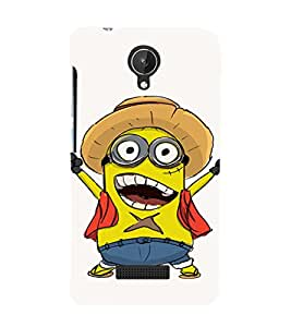 EPICCASE Cowboy Minion Mobile Back Case Cover For Micromax Canvas Spark Q380 (Designer Case)