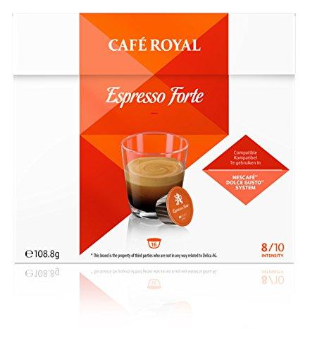 Café Royal Espresso Forte Neue Generation, 48 kompatible Kapseln für Nescafé Dolce Gusto, 3er...