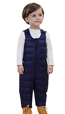 Happy Cherry Unisex Kinder Daunenhose Baby Jungen warm farbig Winterhose