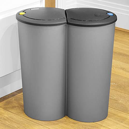 URBNLIVING - Cubo de Basura Circular Duo