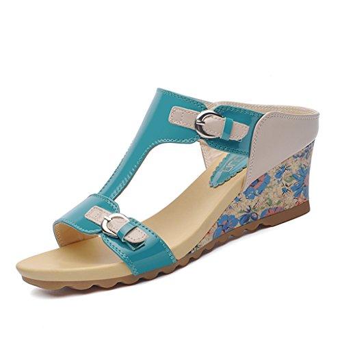 Chaussures femme HWF Été en Plein air épais Fond Ms Mme Slippers Mode Sandales Chaussures pour Femmes