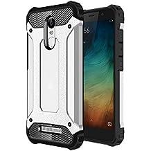 Cewaal Xiaomi redmi Note 3 Funda Armour cubierta y parachoques absorción de impactos resistente a los arañazos Carcasa Case para Redmi Note 3 Plata