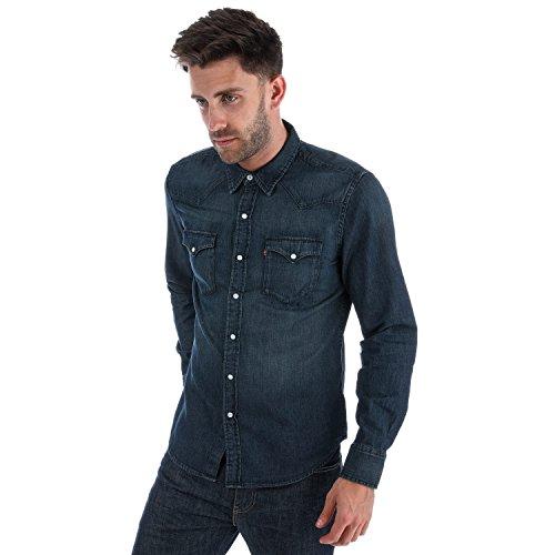 Levi's camicia casual - uomo jean denim l