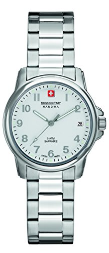 Swiss Military Swiss Soldier Lady Prime Women's Quartz Watch with Silver Dial Analogue Display and Silver Stainless Steel Bracelet 6-7231.04.001