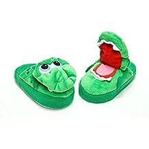 Zapatillas de dragón verde