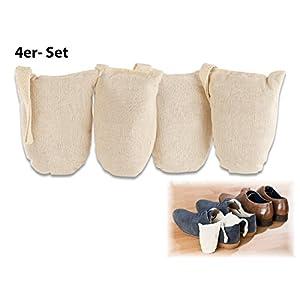 newgen medicals Schuherfrischer: Ökologische Schuh-Erfrischer aus Baumwolle und Zedernholz, 4er-Set (Schuh-Entfeuchter)