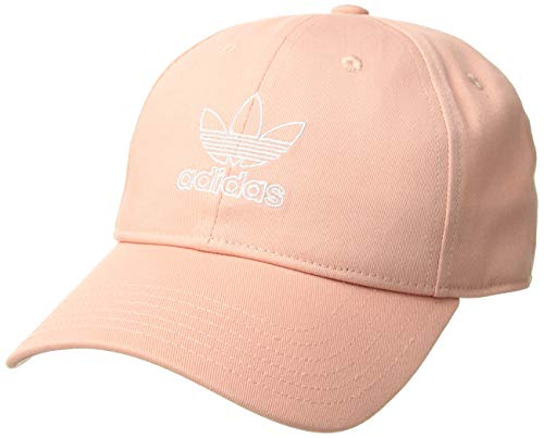 0b970a5213115 adidas Women's Originals Outline Logo Relaxed Adjustable Cap, Dust  Pink/White, One Size