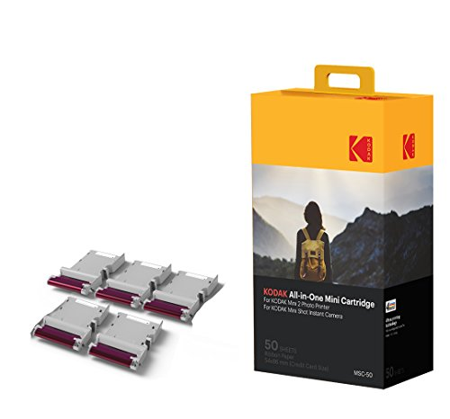 Kodak NEU Mini Fotodruckerpatrone MC – All-in-One Papier und Farbtintenpatrone Nachfüllung – 50er Pack - KOMPATIBEL mit Mini Shot Kamera, Mini 2 Drucker