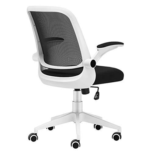 Kinder-computer-schreibtisch (WJSWYZ Schöne Stuhl zu Hause Computer Stuhl bürostuhl Kind Studie Schreibtisch Stuhl drehstuhl bürostuhl (Farbe: schwarz und weiß, größe: 60 cm * 60 cm * 74 cm))