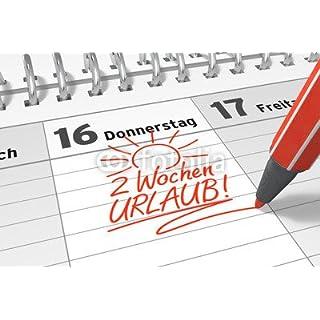 adrium Aufkleber-Bild 40 x 30 cm:Kalender-Notiz: 2 Wochen Urlaub!, Bild auf Aufkleber