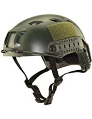 Nicololfle Tactical Helme multifunktionaler Kopfschutz Army Military Style Cs Reiten Schnellspringen CS Spiel Helm für Outdoor-Sport