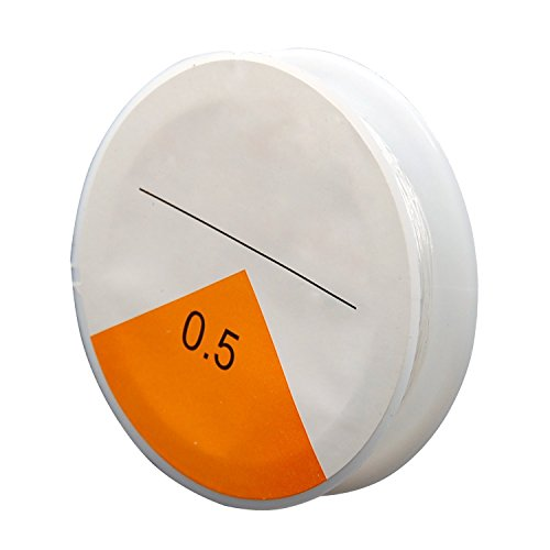Digiflex 20 m Bobina di Filo Trasparente da 0.5 mm - Filo Elastico per Bracciali - Filo Elasticizzato per Perline, Gioielli, Lavori Artigianali