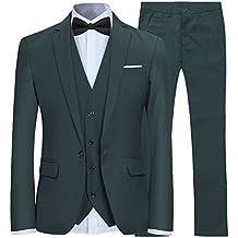 Trajes para Hombre 3 Piezas Slim Fit Boda Esmoquin Formal Un botón Cerrar  Blazers Chaqueta Chaleco 95f68f4830f4