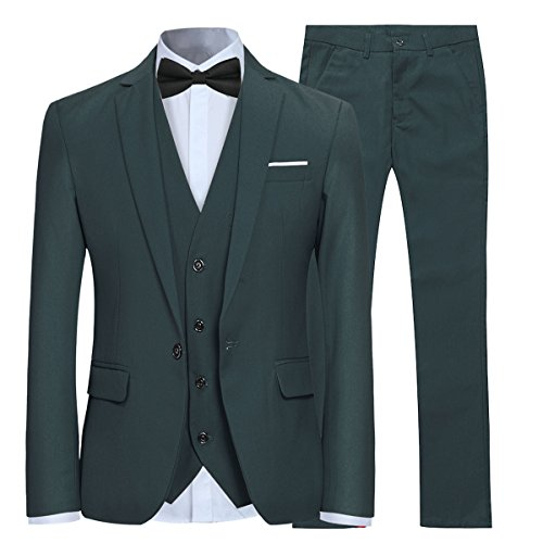 Allthemen Herren 3-Teilig Slim Fit Anzug Smoking Anzugjacke -