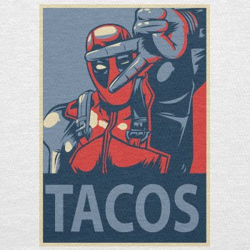TEXLAB - Tacos 4 Life - Herren T-Shirt Weiß