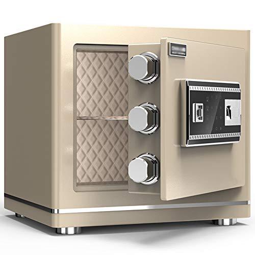 Caja Fuerte de Seguridad,38x30x35cm Reconocimiento de Huellas Dactilares Electrónica de Caja de...
