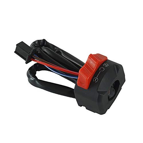 Sharplace 22mm Interrupteur De D/émarrage De Klaxon On Off Kill Switch De Guidon De Moto ATV