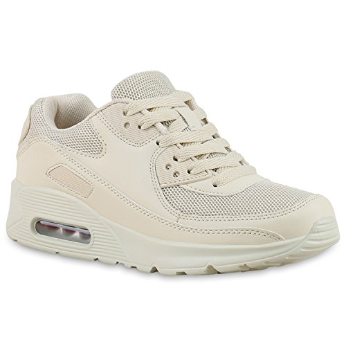 Trendige Unisex Laufschuhe | Damen Herren Kinder | Sportschuhe Metallic Glitzer | Camouflage Sneaker Bunt | Schnür Sport Turnschuhe Stone