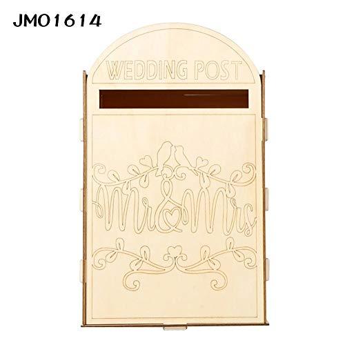Liery Hölzerne Mailbox Royal Post Box Dekoration Hochzeit Party Supplies Für Karten