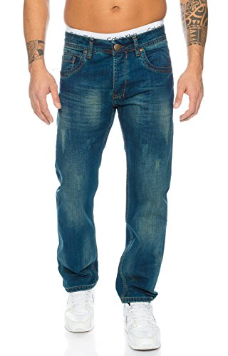 Rock Creek Herren Jeans Blau RC-2103 [W42 L34]