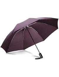 Leebotree Parapluie Pliant Coupe-Vent, Parapluie Inversé Compact et Pliable, Parapluies de Voyage et Sorties en Plein air. Ouverture et Fermeture Automatique. canopée 210T Tissu