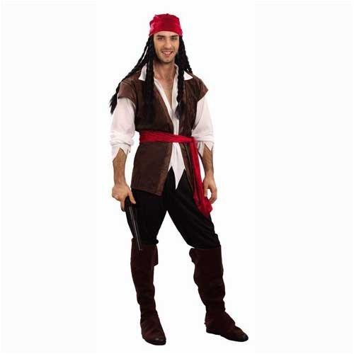 Caribbean Pirate Men's Fancy Dress Costume One Size (disfraz)