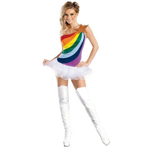 Girl Kostüm Rainbow - Sexy Kostüm RAINBOW-GIRL Gr. XS/S
