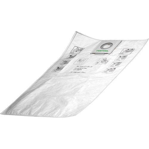 festool-sc-fis-ct-48-5-self-clean-filter-bag-white-pack-of-5