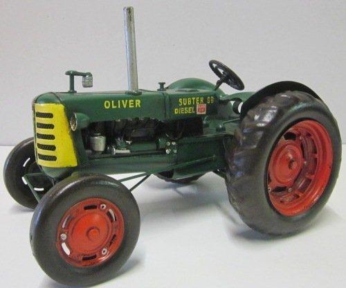 Traktor Oliver (Modellauto - Traktor Oliver Super 99 - Retro Blechmodell)
