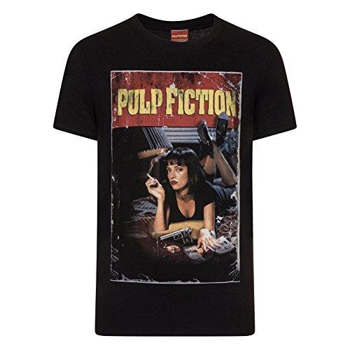 Pulp Fiction Men's Poster Shot Regular Fit Short Sleeve T-Shirt
