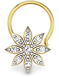 Candere By Kalyan Jewellers Michelle 18k Yellow Gold and Diamond Nosepin