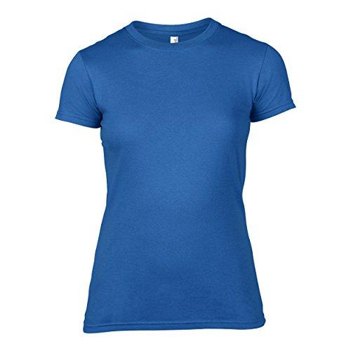 Anvil Anvil Women's Lightweight Crew Neck Junior Fit Tee - T-shirt - coupe cintrée - Manches courtes - Femme Rouge - Rouge