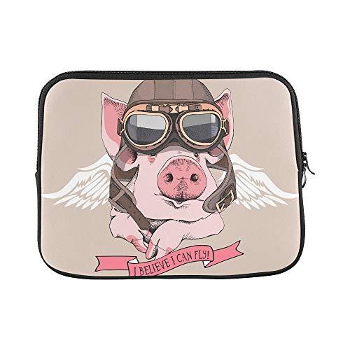 QuqUshop Diseño Personalizado Divertido Cerdo Retro