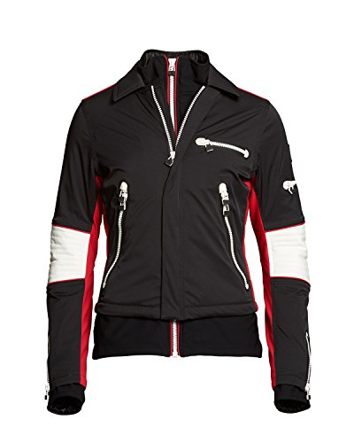 S.O.S Damen Skijacke Ws Biker Jacket 1621010-996 Black/Red (44)