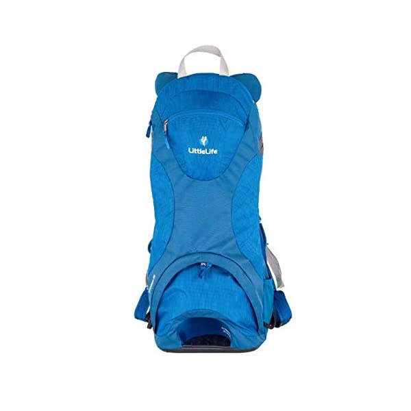 "LittleLife Unisex's Freedom S4 Child Carrier (blue) Back, One size LittleLife Anatomically shaped child seating area, with neck support and soft face pad Includes rear view mirror, sun shade and Foot stirrups Suitable for adults 1.57 - 1.87M/ 5'2"" - 6'4"" 2"