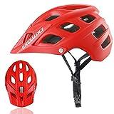 Exclusky Erwachsene Fahrradhelm für Männer Mountain-Bike L 56-61cm (Rot)