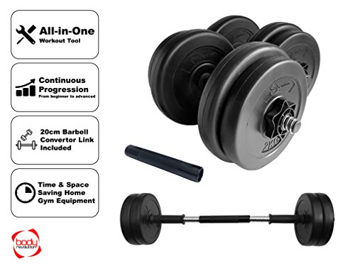 Body-Revolution-Vinyl-Dumbbell-Set--Adjustable-Free-Weights-10kg-15kg-20kg-30kg-40kg-50kg-Sets20kg