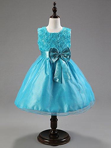 Imagen de katara  vestido de noche para niña con flores y con arco, color azul, talla 92/98 tamaño fabricante 90  alternativa