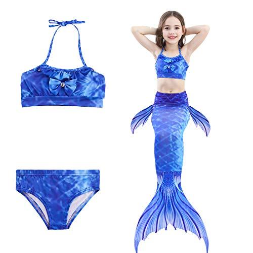 ONEBUYONE DREI Stück kleine Mädchen Bikini Comfy Swimsuits Swimmable Set für Mädchen 3-12 Jahre ()