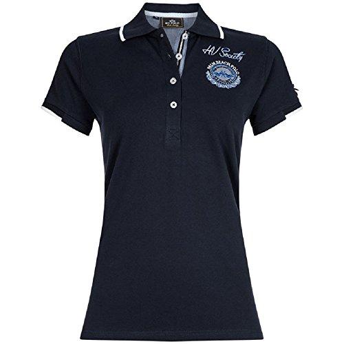 HV POLO Damen Polo-Shirt Lee kurzarm Stickereien Kunstperlenverzierung Navy