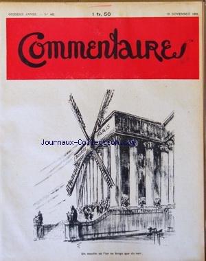 COMMENTAIRES [No 462] du 29/11/1931