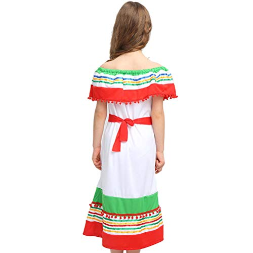 n Girls Ladies Mexican Straw Hat Clothes Suit Set for Hawaiian Mexican Cinco de Mayo Party Costume Favors Size XL ()